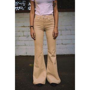 CoH | nude corduroy low waist flared pants 26